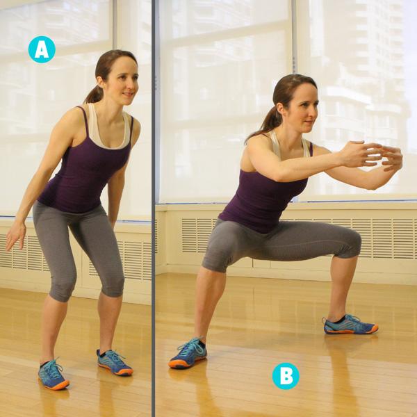 Phương pháp tăng chiều cao bằng bài tập bật nhảy ngồi xổm rộng chân